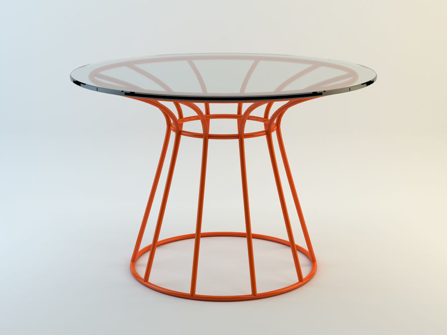 Dinner table Nusa Dua + Garden Seat Nusa Dua, from Tidelli In & Out royalty-free 3d model - Preview no. 1