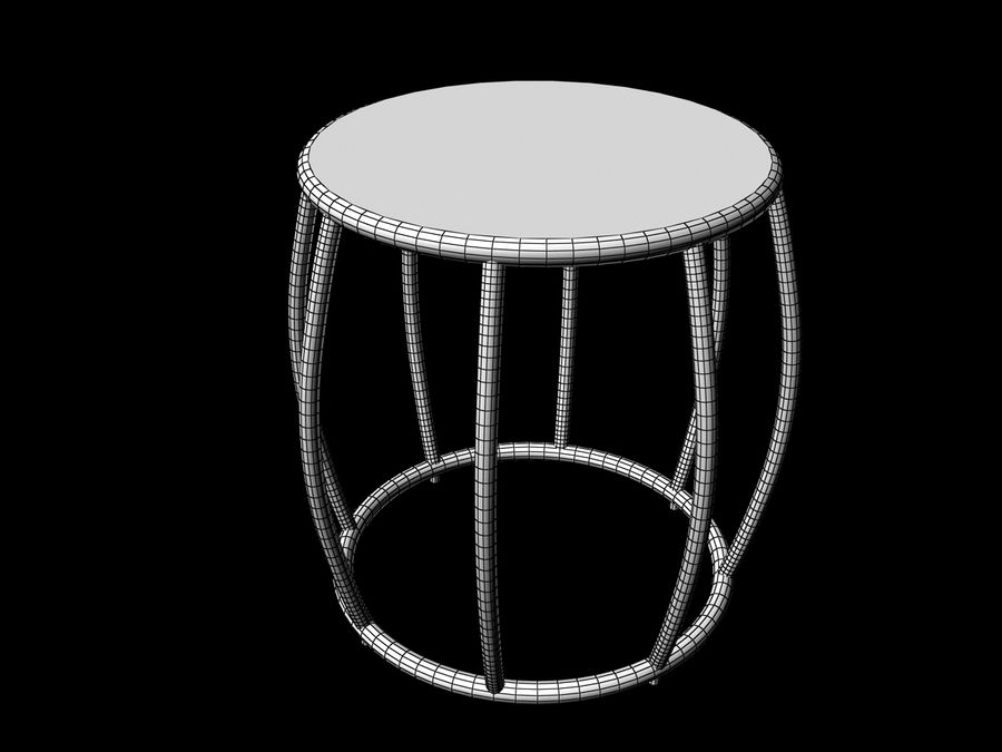 Dinner table Nusa Dua + Garden Seat Nusa Dua, from Tidelli In & Out royalty-free 3d model - Preview no. 4