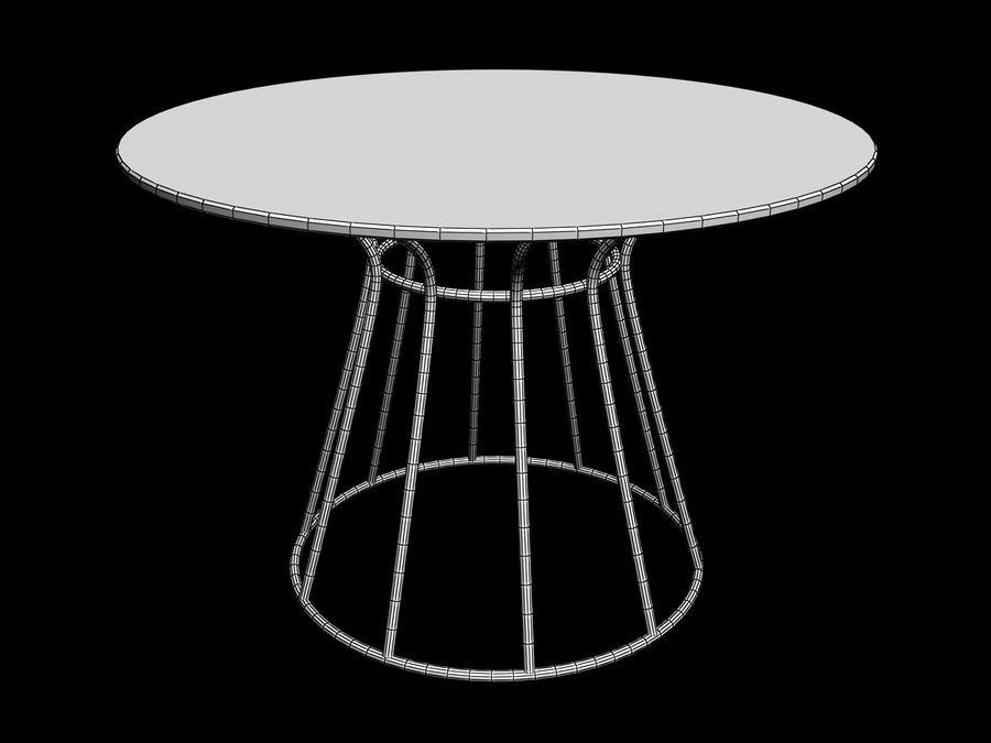 Dinner table Nusa Dua + Garden Seat Nusa Dua, from Tidelli In & Out royalty-free 3d model - Preview no. 5