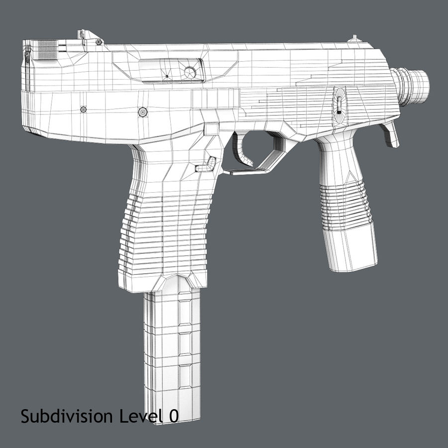 Steyr TMP royalty-free 3d model - Preview no. 7