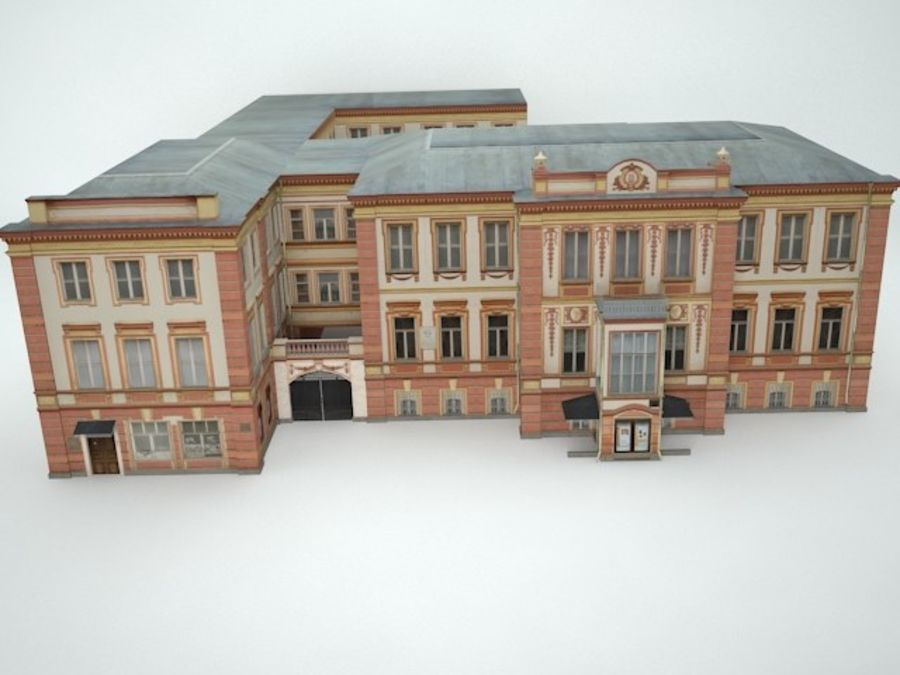 museum  building royalty-free 3d model - Preview no. 8