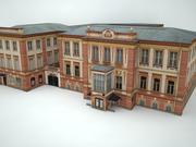 edificio del museo 3d model