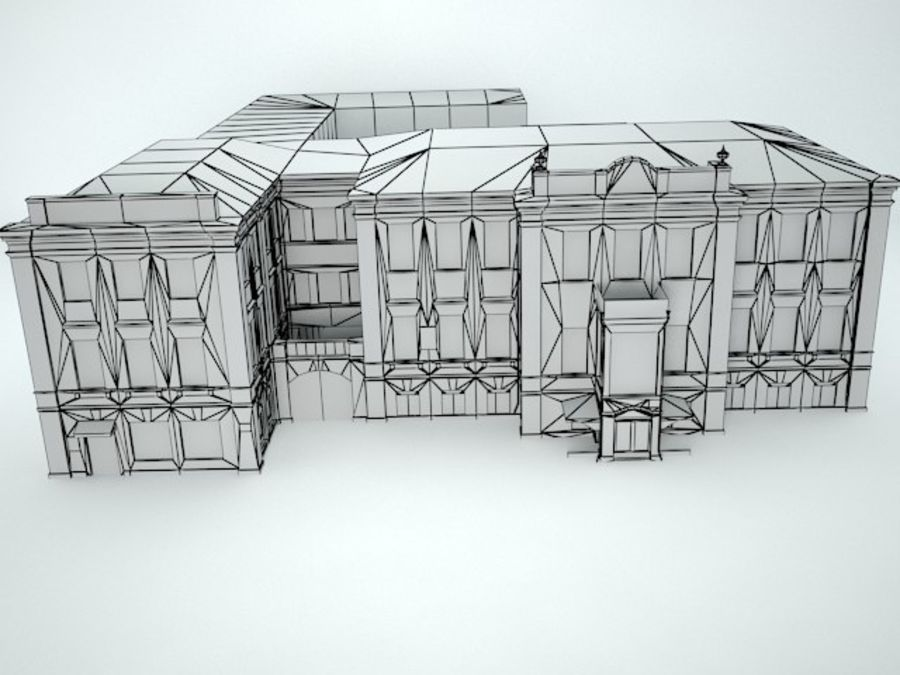 museum  building royalty-free 3d model - Preview no. 12