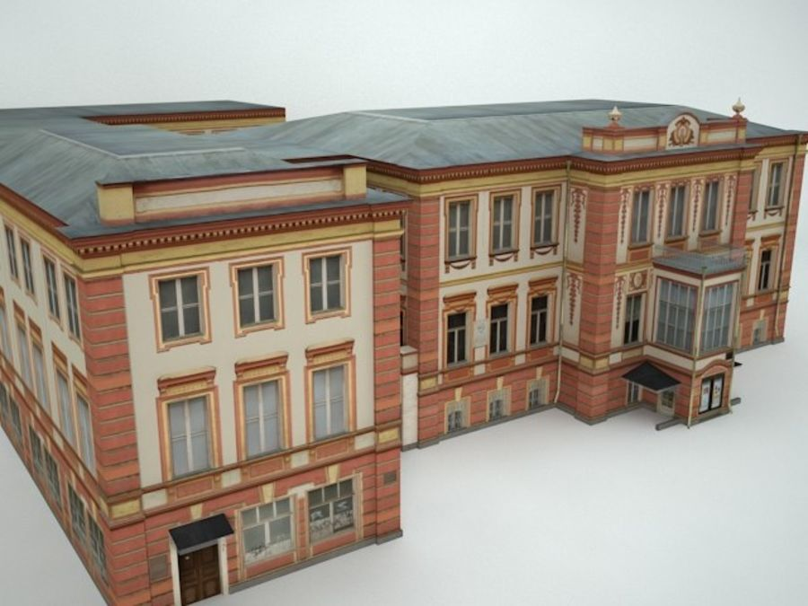 museum  building royalty-free 3d model - Preview no. 3
