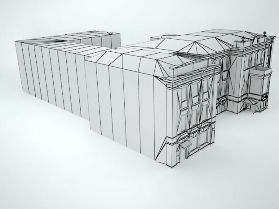 museum  building royalty-free 3d model - Preview no. 15