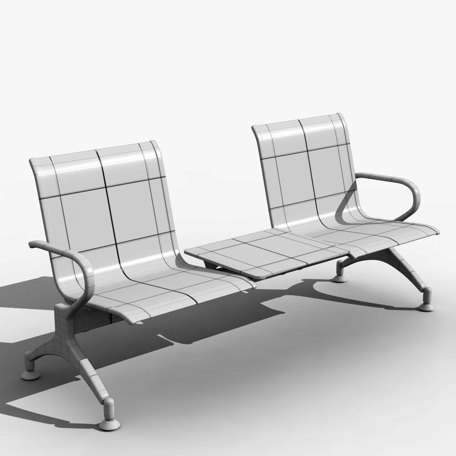 Modelo de asiento de aeropuerto royalty-free modelo 3d - Preview no. 4