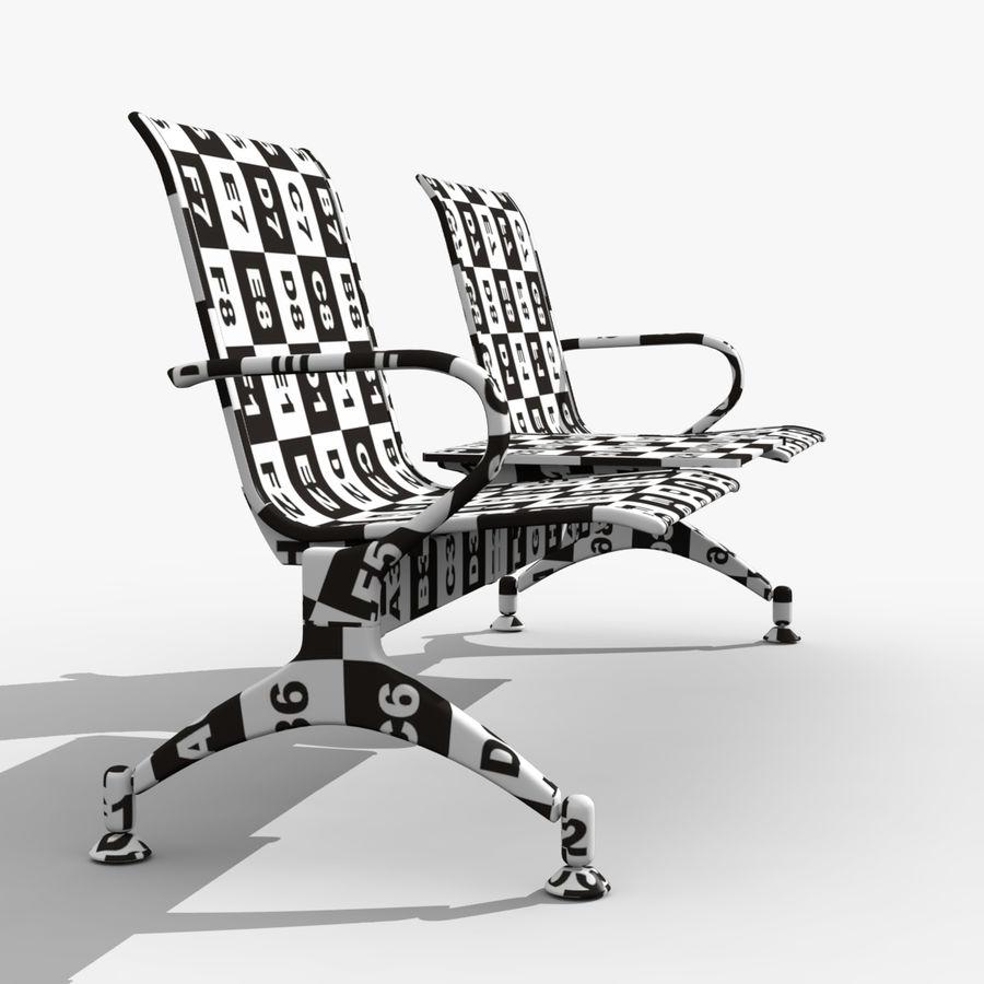 Modelo de asiento de aeropuerto royalty-free modelo 3d - Preview no. 5
