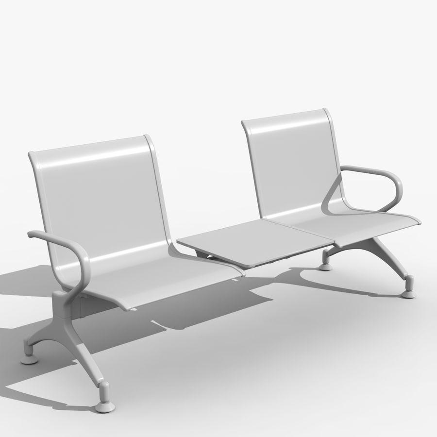 Modelo de asiento de aeropuerto royalty-free modelo 3d - Preview no. 3