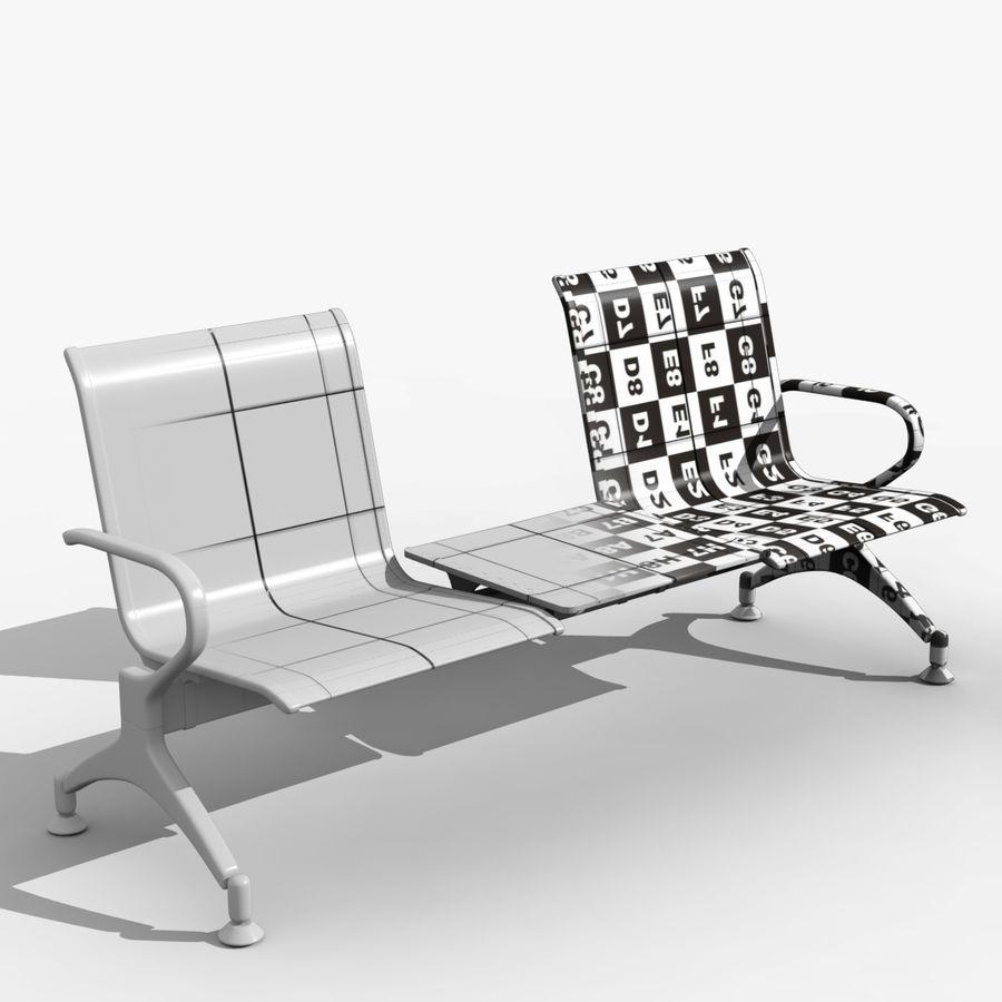 Modelo de asiento de aeropuerto royalty-free modelo 3d - Preview no. 1