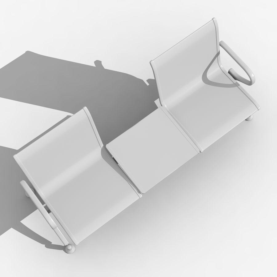 Modelo de asiento de aeropuerto royalty-free modelo 3d - Preview no. 9