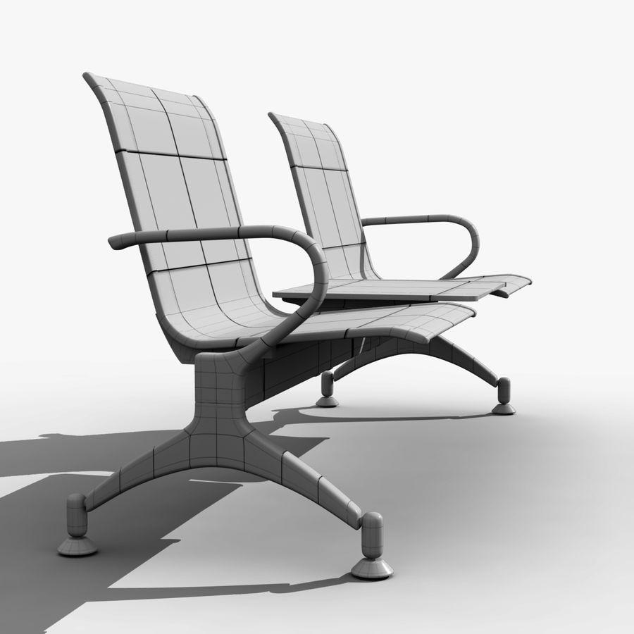 Modelo de asiento de aeropuerto royalty-free modelo 3d - Preview no. 7
