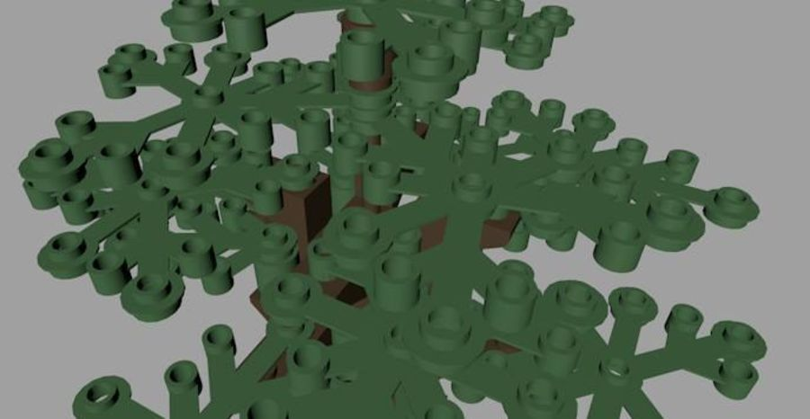 LEGO Tree royalty-free 3d model - Preview no. 5
