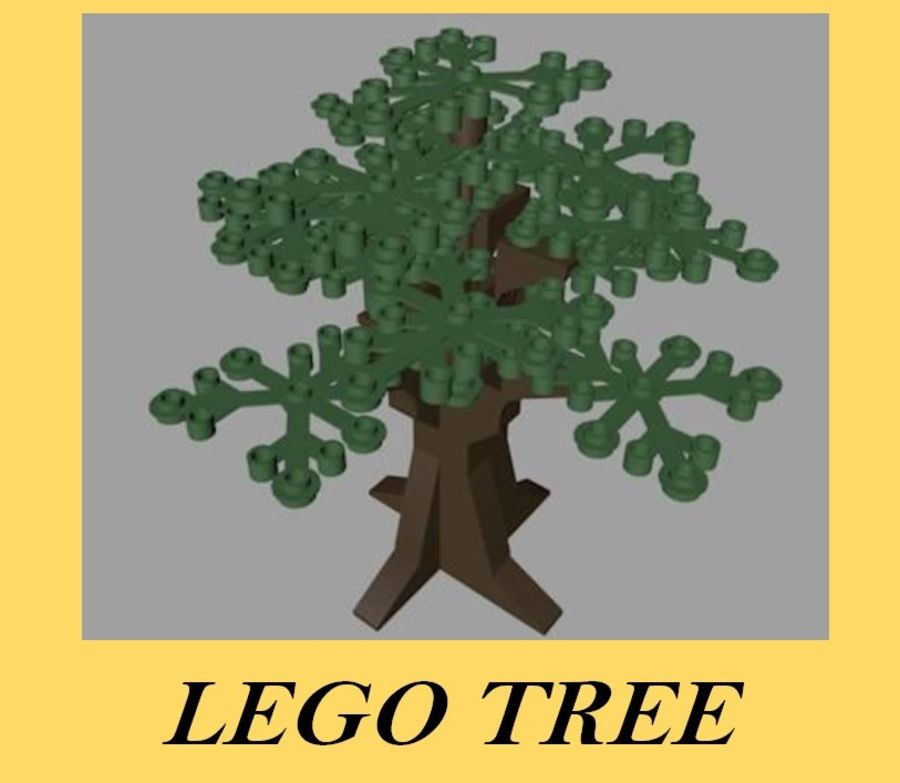 LEGO Tree royalty-free 3d model - Preview no. 1