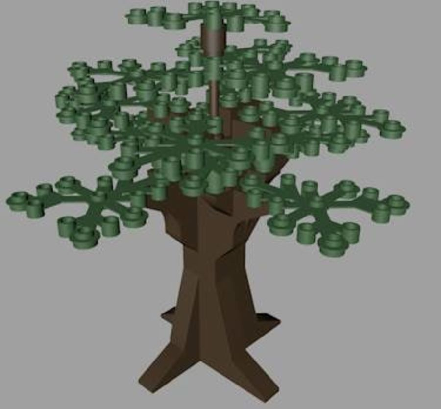LEGO Tree royalty-free 3d model - Preview no. 3