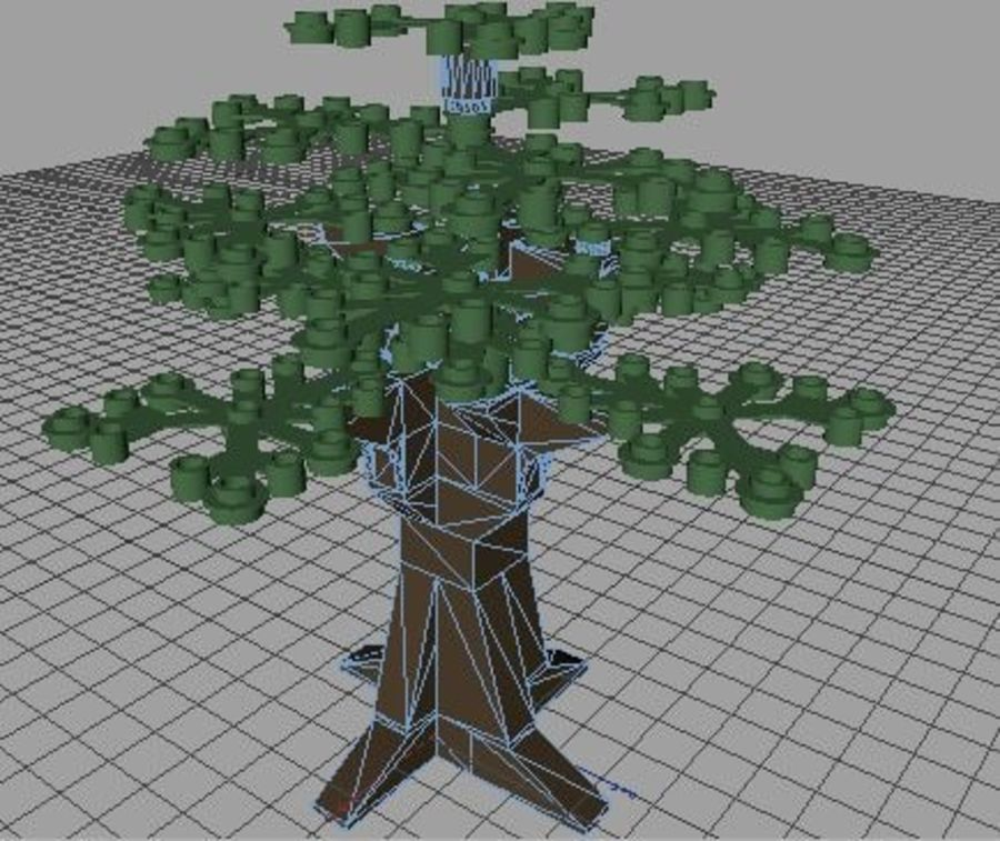 LEGO Tree royalty-free 3d model - Preview no. 6