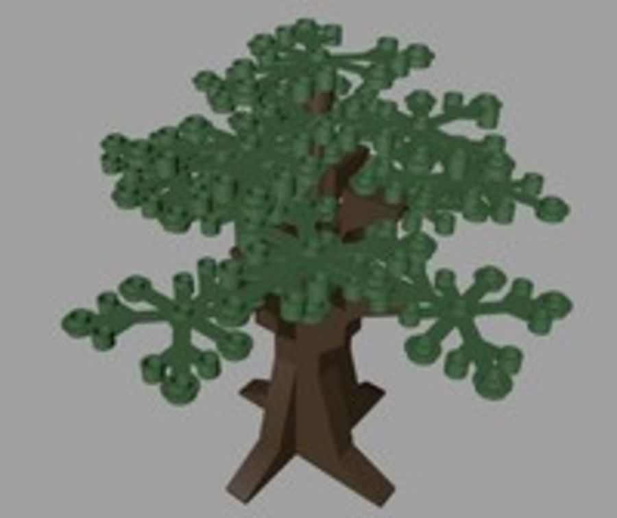 LEGO Tree royalty-free 3d model - Preview no. 2