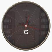 Czarny zegar ścienny 3d model