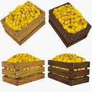 Limonun Düşük Poli Sandığı 3d model