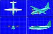 Alenia C-27J Spartan Aircraft Katı Montaj Modeli 3d model