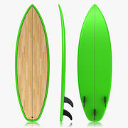 Surfboard (Green) 3d model