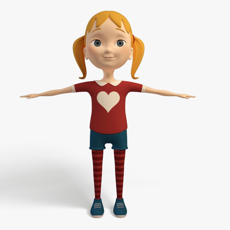 Cartoon Girl - Rigged 3D Model $49 -  max  fbx - Free3D