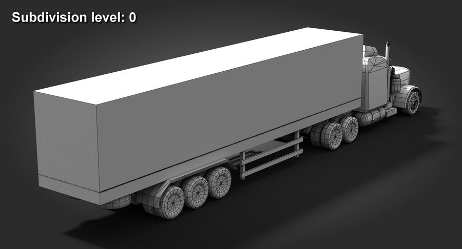 Semitruck royalty-free 3d model - Preview no. 11
