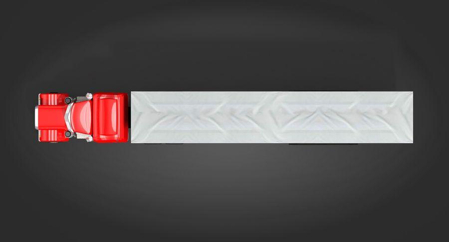 Semitruck royalty-free 3d model - Preview no. 7