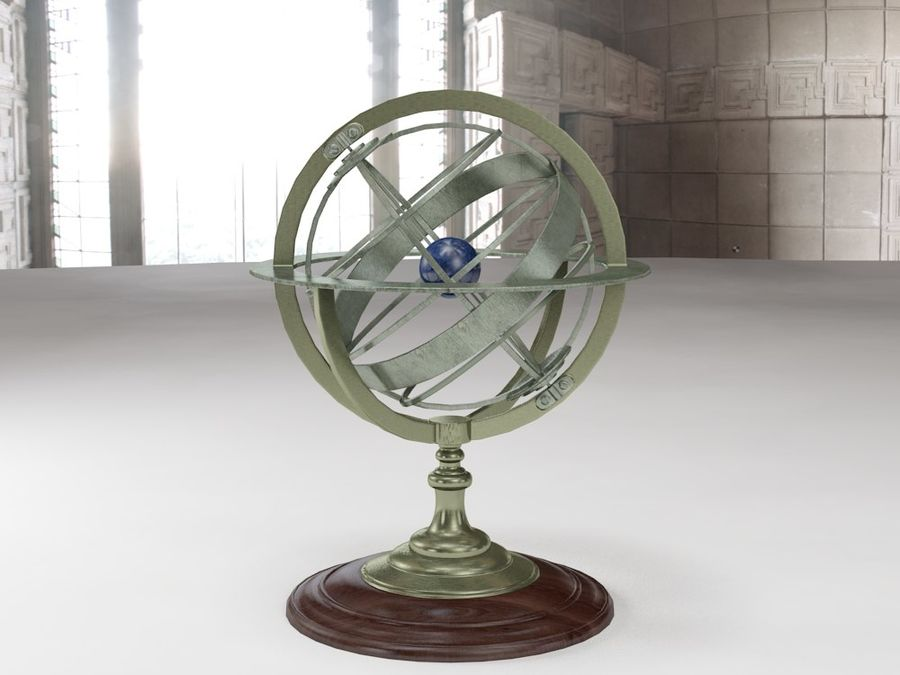 Nautical Compass royalty-free 3d model - Preview no. 3