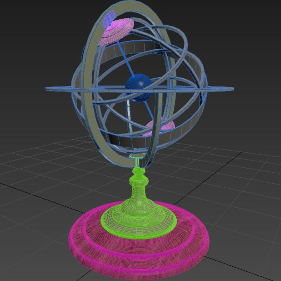 Nautical Compass royalty-free 3d model - Preview no. 8