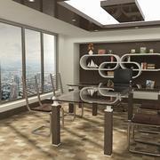 Стильный кабинет 3d model