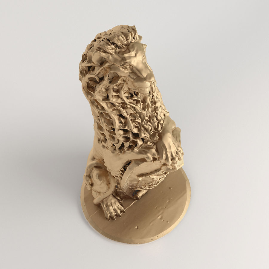 3D model Lion sculpture | Sc_001 royalty-free 3d model - Preview no. 3