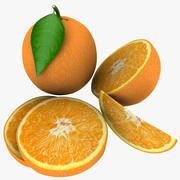 橙色混合 3d model