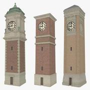 Pacote de torre de relógio texturizado 3d model