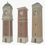 Clock tower pack textured 3d model