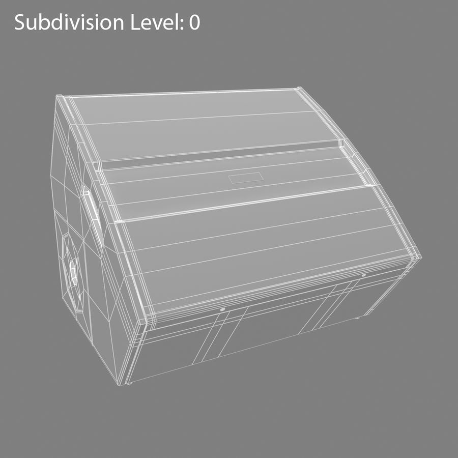 Floor Speaker royalty-free 3d model - Preview no. 7