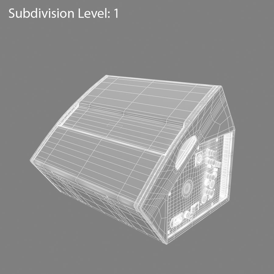 Floor Speaker royalty-free 3d model - Preview no. 4
