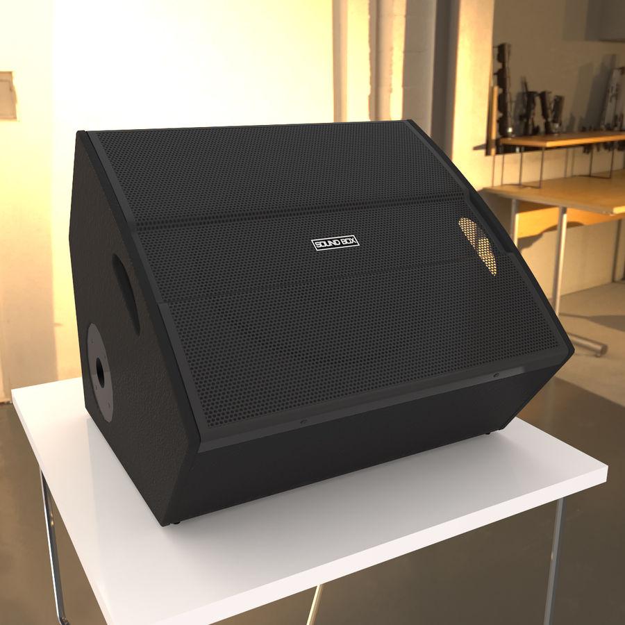 Floor Speaker royalty-free 3d model - Preview no. 6