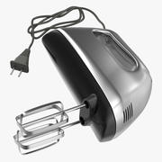 Hand Mixer Chrome 3d model