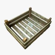 Kleine houten kist 3d model