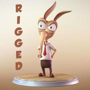 食蚁兽卡通人物 3d model