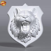 Tiger Roaring Wallmount 3d model