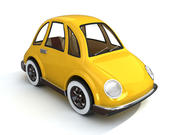 cartoon cute car 3d model