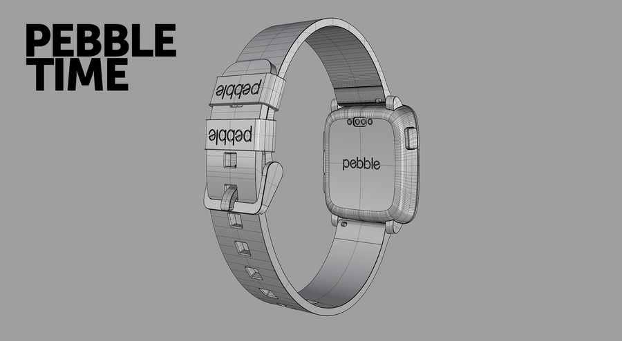 PEBBLE time royalty-free 3d model - Preview no. 13