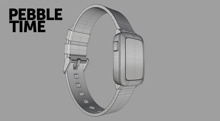 PEBBLE time royalty-free 3d model - Preview no. 15