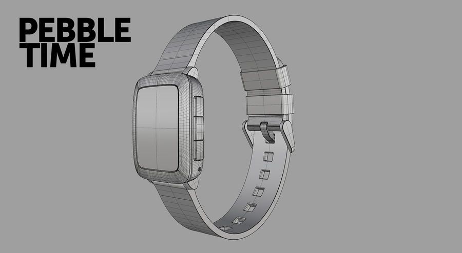 PEBBLE time royalty-free 3d model - Preview no. 17