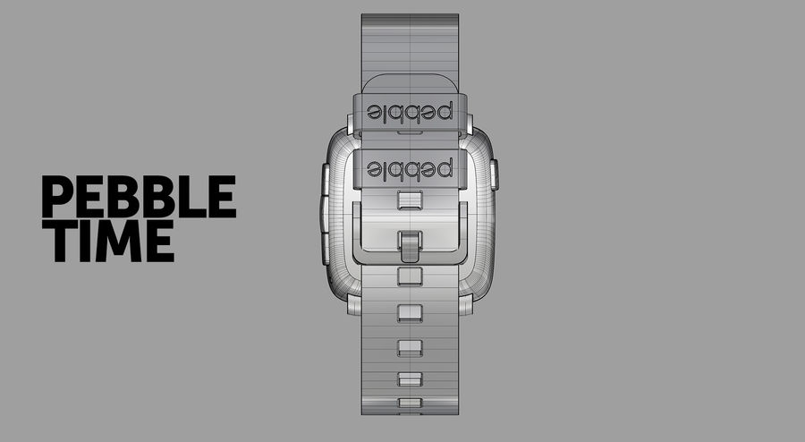 PEBBLE time royalty-free 3d model - Preview no. 3