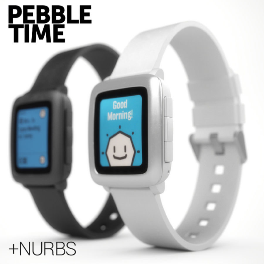 PEBBLE time royalty-free 3d model - Preview no. 1