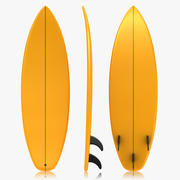 Surfboard (Orange) 3d model