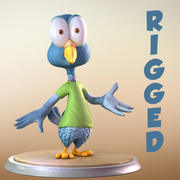Maya Cartoon Pigeon Character 3d model