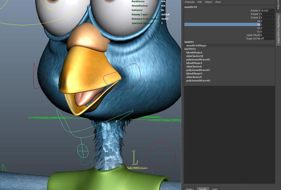 Maya Cartoon Pigeon Character 3D Model $49 -  unknown  ma - Free3D